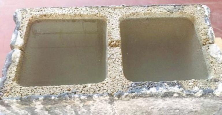 Hormigón a prueba de agua